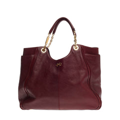 Salvatore Ferragamo Betulla Chain Tote Leather Large
