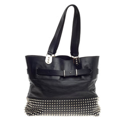Christian Louboutin Sybil Tote Spiked Leather Large