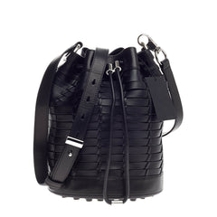 Alexander Wang Alpha Bucket Bag Woven Leather