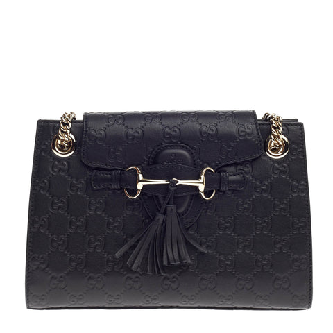 1d65a23f7dbd Buy Gucci Emily Chain Flap Shoulder Bag Guccissima Leather 767209 – Rebag