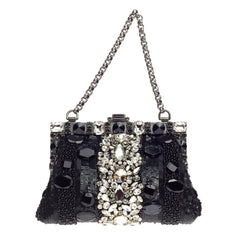 Dolce & Gabbana Vanda Evening Clutch Crystal and Sequins Small