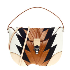 Louis Vuitton Moon Besace Leather and Eel Skin GM