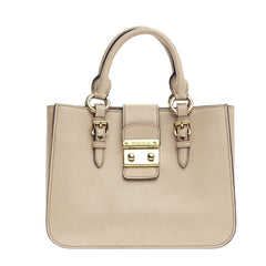 Miu Miu Madras Convertible Lock Tote Leather Small