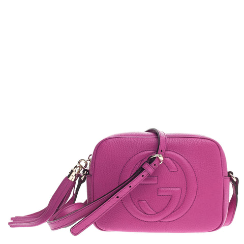 f56e5f1f80b0a Buy Gucci Soho Disco Crossbody Leather Small Purple 767205 – Rebag