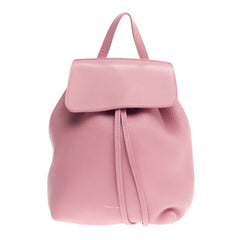 Mansur Gavriel Drawstring Backpack Tumbled Leather Mini