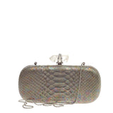 Marchesa Lily Box Clutch Python