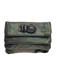 Bottega Veneta Beetle Clutch Iridescent Nappa