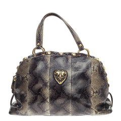 Gucci Babouska Heart Dome Satchel Python Medium