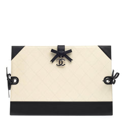 Chanel Drawing Portfolio Quilted Caviar Medium