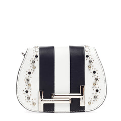 Tod's Double T Crossbody Studded Leather Micro