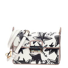 Lanvin Jiji Shoulder Bag Printed Leather Small
