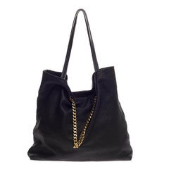 Lanvin Carry Me Tote Stitched Leather Medium