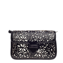 Alaia Symmetrical Flap Bag Laser Cut Python Small