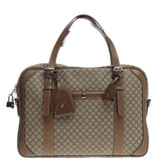 Gucci Convertible Briefcase Diamante Coated Canvas Large