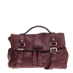 Mulberry Alexa Tassel Satchel Studded Leather Large