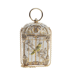 Judith Leiber Birdcage Minaudiere Crystal Small
