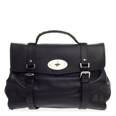 Mulberry Alexa Satchel Polished Buffalo Oversized
