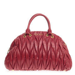 Miu Miu Convertible Bowler Matelasse Leather Large