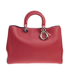 Christian Dior Diorissimo Tote Pebbled Leather Large