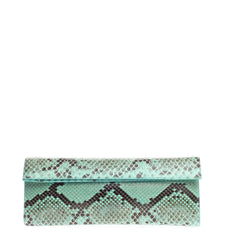 Nancy Gonzalez Flap Clutch Python Long