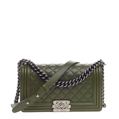 Chanel Boy Flap Quilted Lambskin Old Medium