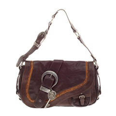 Christian Dior Gaucho Double Saddle Leather