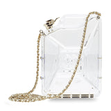 Chanel Dubai By Night Gas Can Minaudiere Clear Plexiglass