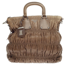 Prada Gaufre Convertible Tote Nappa Leather Large