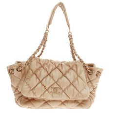 Chanel Bubble Quilt Flap Accordion Flap Lambskin -