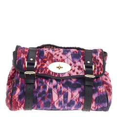 Mulberry Alexa Satchel Quilted Printed Denim -