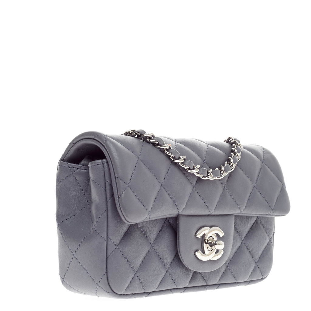 abac6e914fac Buy Chanel Classic Single Flap Bag Lambskin Extra Mini Blue 304603 ...