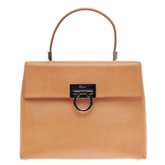 Salvatore Ferragamo Convertible Top Handle Bag Leather -