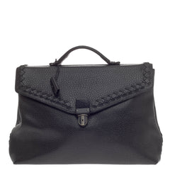 Bottega Veneta Envelope Briefcase Leather with Intrecciato Detail -