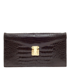 Lana Marks Convertible Envelope Clutch Crocodile Small
