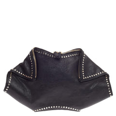 Alexander McQueen De Manta Clutch Studded Leather Large