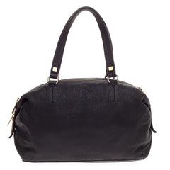 Celine Triple Zip Satchel Pebbled Leather Small