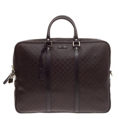 Gucci Bright Convertible Briefcase Diamante Leather Large