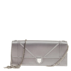 Christian Dior Diorama Wallet on Chain Satin