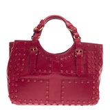 Roberto Cavalli Ingrid Tote Studded Leather Large