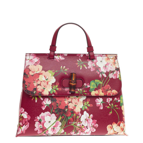 50454f42a65ac0 Buy Gucci Bamboo Daily Top Handle Bag Blooms Print Leather 461801 – Rebag