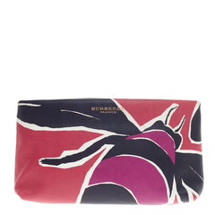 Burberry Book Cover Pouch Printed Leather -