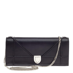 Christian Dior Diorama Chain Clutch Leather