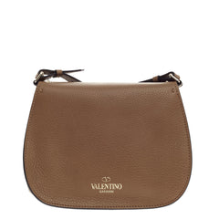 Valentino Band Rockstud Round Messenger Grained Leather