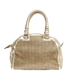 Christian Louboutin Panettone Convertible Bowler Spiked Leather Small