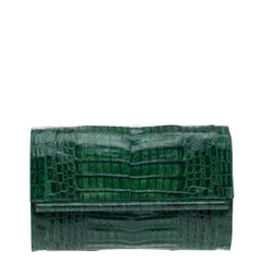 Nancy Gonzalez Bar Clutch Crocodile Large
