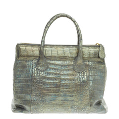 Nancy Gonzalez Double Zip Convertible Tote Crocodile Large