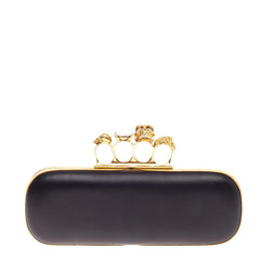 Alexander McQueen Knuckle Box Clutch Leather Long