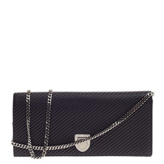 Christian Dior Diorama Chain Clutch Pleated Leather