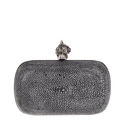 Alexander McQueen Skull Box Clutch Stingray Small