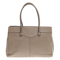 Tod's Mocassino Tote Pebbled Leather